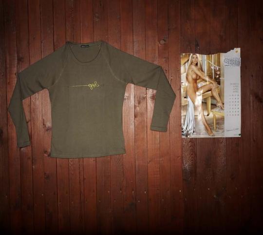 Dámské triko s dlouhým rukávem - khaki