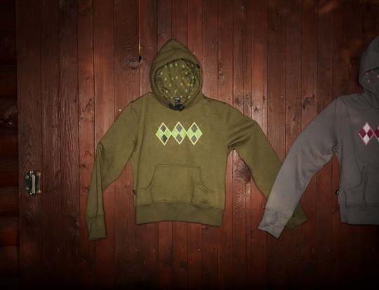 Dámská mikina HOOD s potiskem ROYAL GSB khaki.