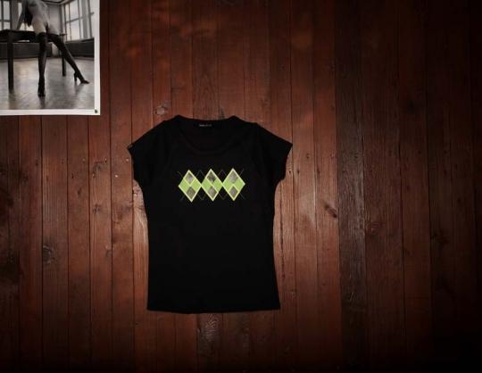 Dámské triko s potiskem ROYAL GSB - černé.