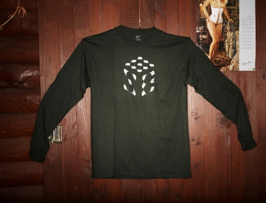 Pánské triko GSB kostka  dlouhý rukáv  - khaki
